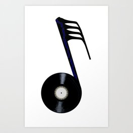 Isolated Record Note Art Print