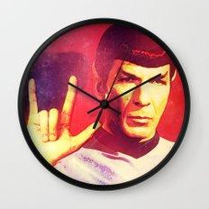 Spock Rocks Wall Clock