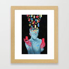 Block Head Framed Art Print