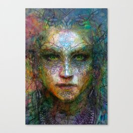 Tribal girl Canvas Print