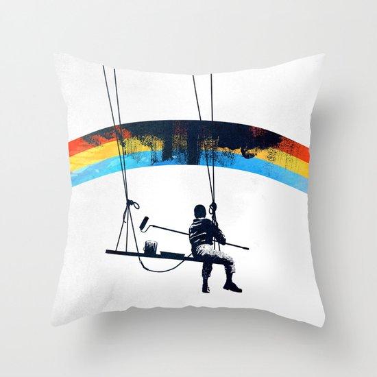 Paint it Black Throw Pillow