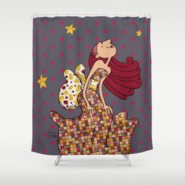 Menina Estrela Shower Curtain