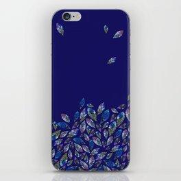 Tumbling Leaf Blue iPhone Skin