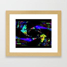 feedback pinwheel Framed Art Print