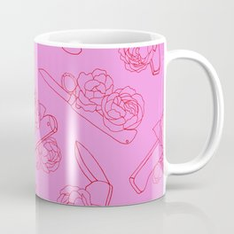 Peonies and Switchblades Coffee Mug