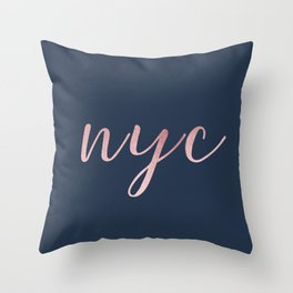 nyc shine Throw Pillow
