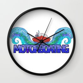 Love Motorboating Wall Clock