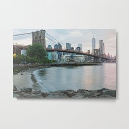 New York City Sunsets Metal Print