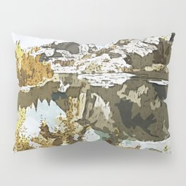Natural Watercolor Pillow Sham