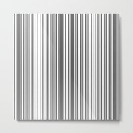 Abstraction black and white stripes Metal Print