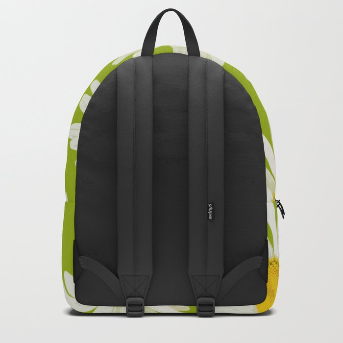 Daisies on a vivid green background - #Society6 #buyart Backpack
