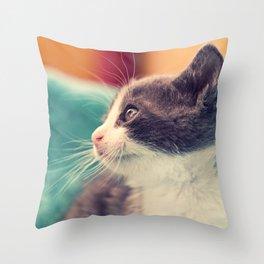 Billy The Cat Throw Pillow