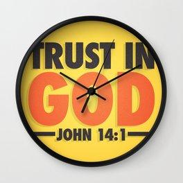 Trust in God Wall Clock