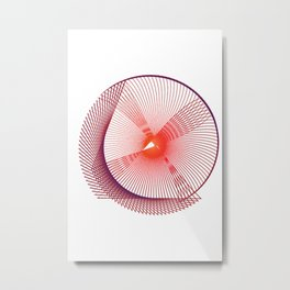 Space galaxy geometric red purple Metal Print