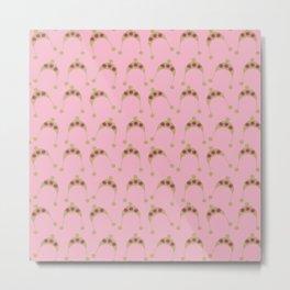 pink beige hats Metal Print