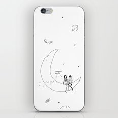the moon knows iPhone & iPod Skin