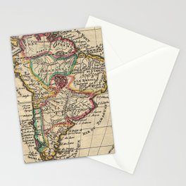 Vintage Map of South America (1747) Stationery Cards