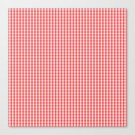 Small White and Donated Kidney Pink Halloween Gingham Check Canvas Print