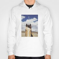 horse Hoodies featuring Cloudy Horse Head by Kevin Russ