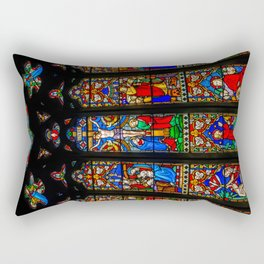 INRI Stained Glass Rectangular Pillow