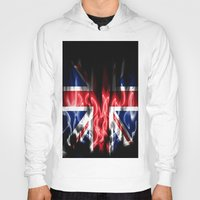 british Hoodies featuring British flames  by Cozmic Photos