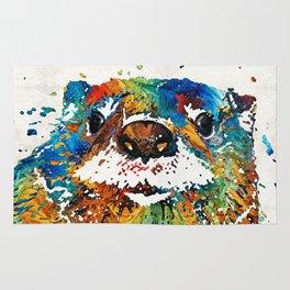 Otter Art - Ottertude - By Sharon Cummings Rug