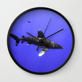 Oceanic Whitetip and Pilot Fish Wall Clock