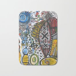 Feathers or Rockets Bath Mat