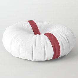 vermilion line || white rabbit eye Floor Pillow