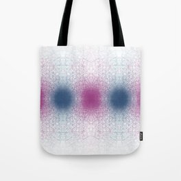 Scattered Lines Converge Tote Bag