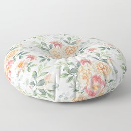 Pink roses bouquets Floor Pillow