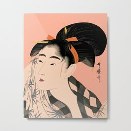 Utumaro #1 Peach Metal Print