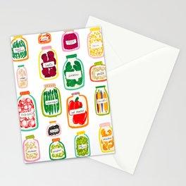 Jars of Fruit & Veg Stationery Cards