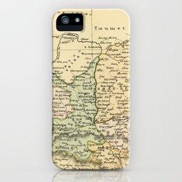 Vintage Map of The North Of China iPhone Case