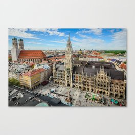 The main square of Munich - Marienplatz Canvas Print