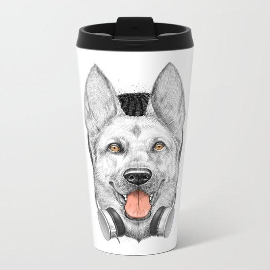 german shepherd dog Metal Travel Mug