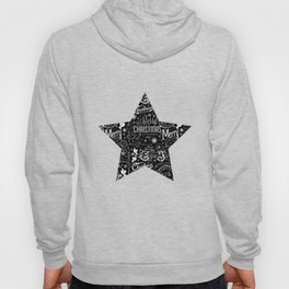 Black and White Christmas Typography Design Hoody