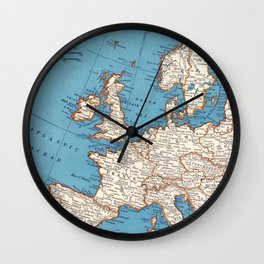 Map of Europe Wall Clock