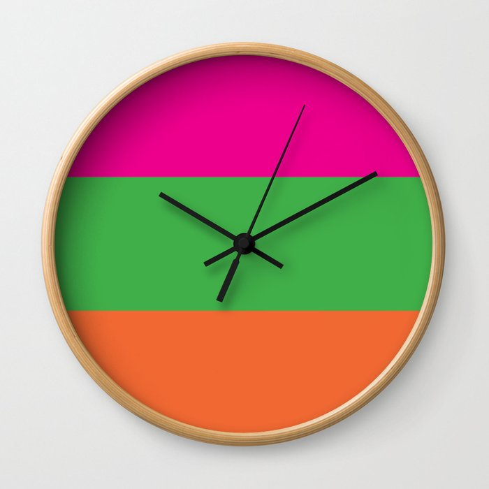 Rainbow Moon Wall Clock