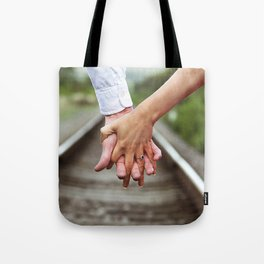 Holding Hands And Engaged Tote Bag