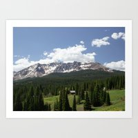 colorado Art Prints featuring Colorado by America Yall