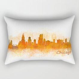 Chicago City Skyline Hq v3 Rectangular Pillow