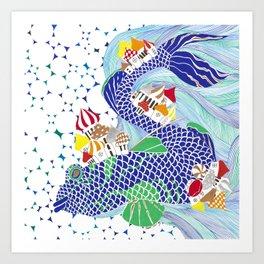 Ryba-Kit or Whale-Fish Art Print