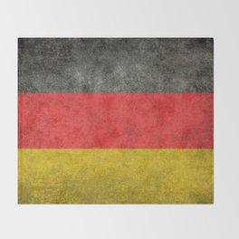 German National flag, Vintage retro patina Throw Blanket