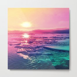 Pastel Sunset Waters Metal Print