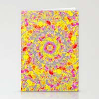 psychedelic Stationery Cards featuring Psychedelic by Sandra Arduini