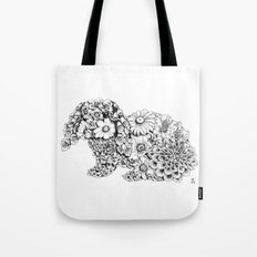 Floral Rabbit Tote Bag