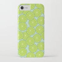coasters iPhone & iPod Cases featuring lime by Tanya Pligina
