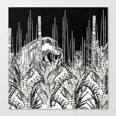 Camouflage II in Uzu Jungle Canvas Print