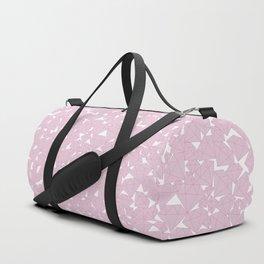 Pink diamonds / Lineart diamonds pattern Duffle Bag